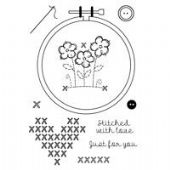 Woodware - Embroidery Hoop - Clear Magic Stamp Set - FRS626